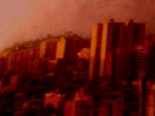 als du zu mir sprachst, hörte ich dich auf stereo, caracas skyscrapers in red,  michaela grill
