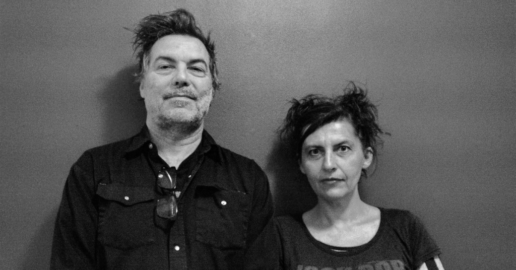 steve bates and michales grill with crazy hair in black and white, audiovisual research into auditory hallucinations,