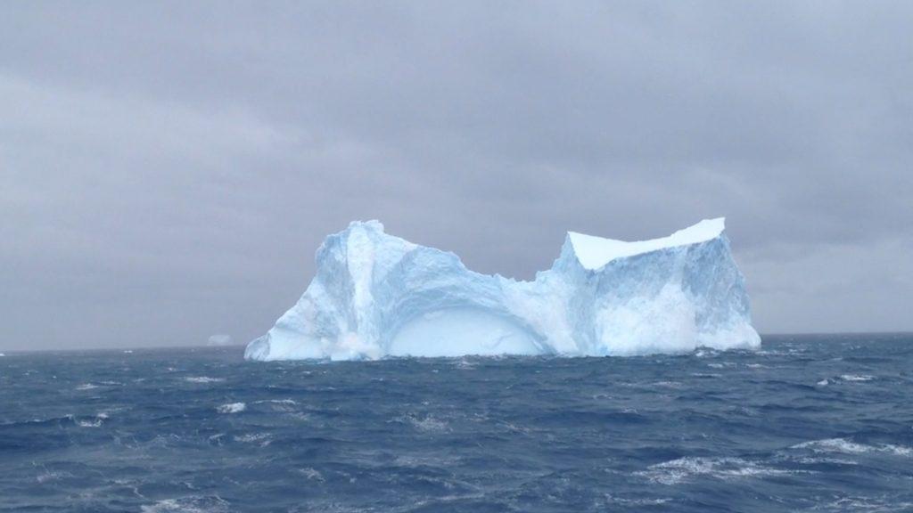 iceberg in antarctic ocean, antarctic traces