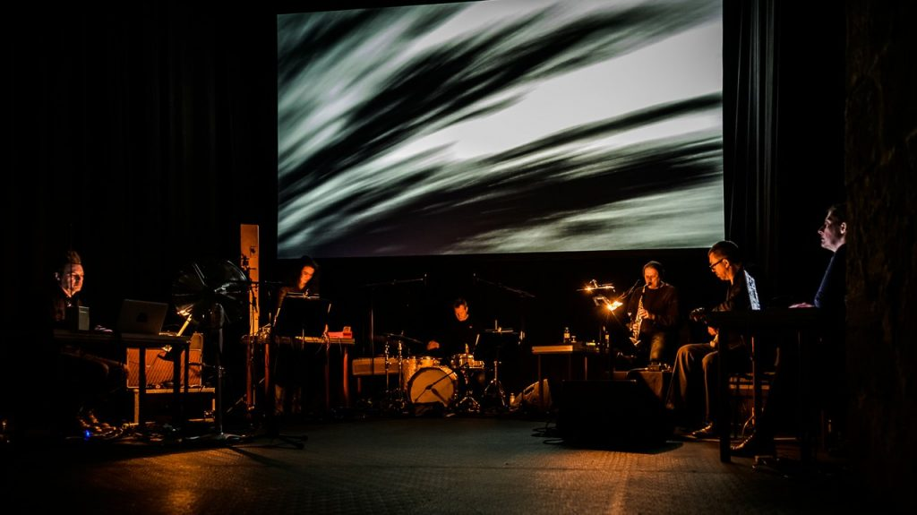 black seas ensemble performs at imago dei festival in krems, audiovisual research into auditory hallucinations, michaela grill